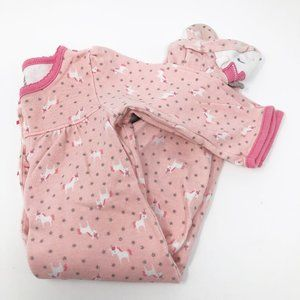 Carter's I 100% Cotton Baby Girl Pink Footie 6-9M